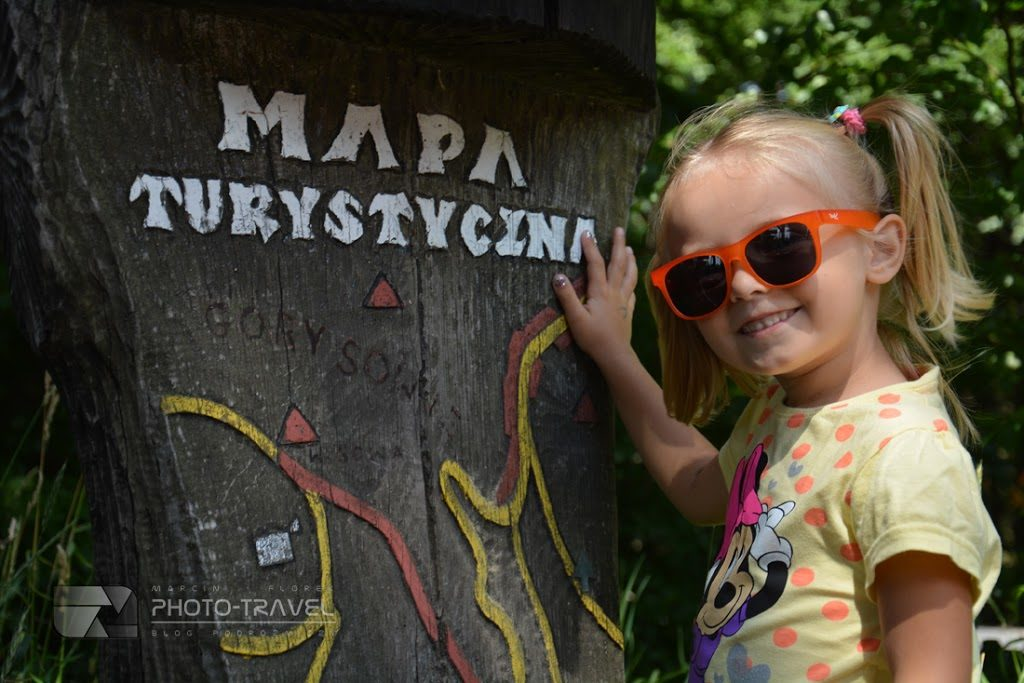 Podróże z dziećmi - Przełęcz Jugowska, Kalenica i stok Rymarz - Mapa turystyczna Gór Sowich na Przełęczy Jugowskiej