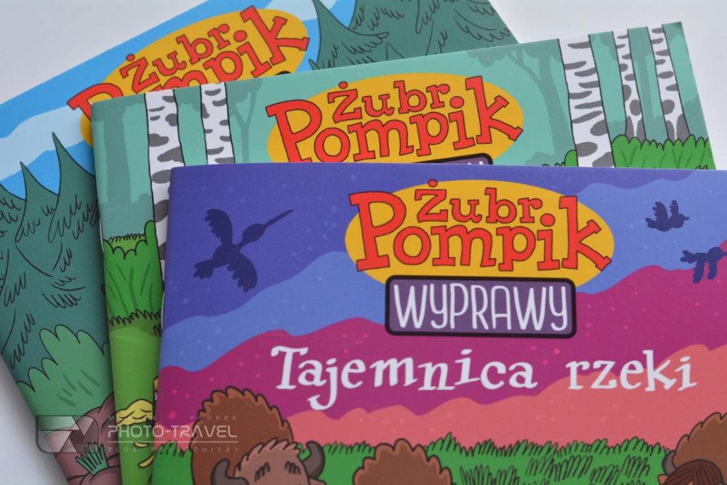 Żubr Pompik Wyprawy - książeczki z mapą Parków Narodowych w Polsce