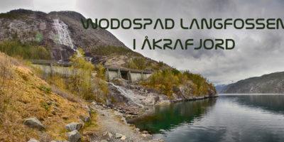 Wodospad Langfossen i Åkrafjord