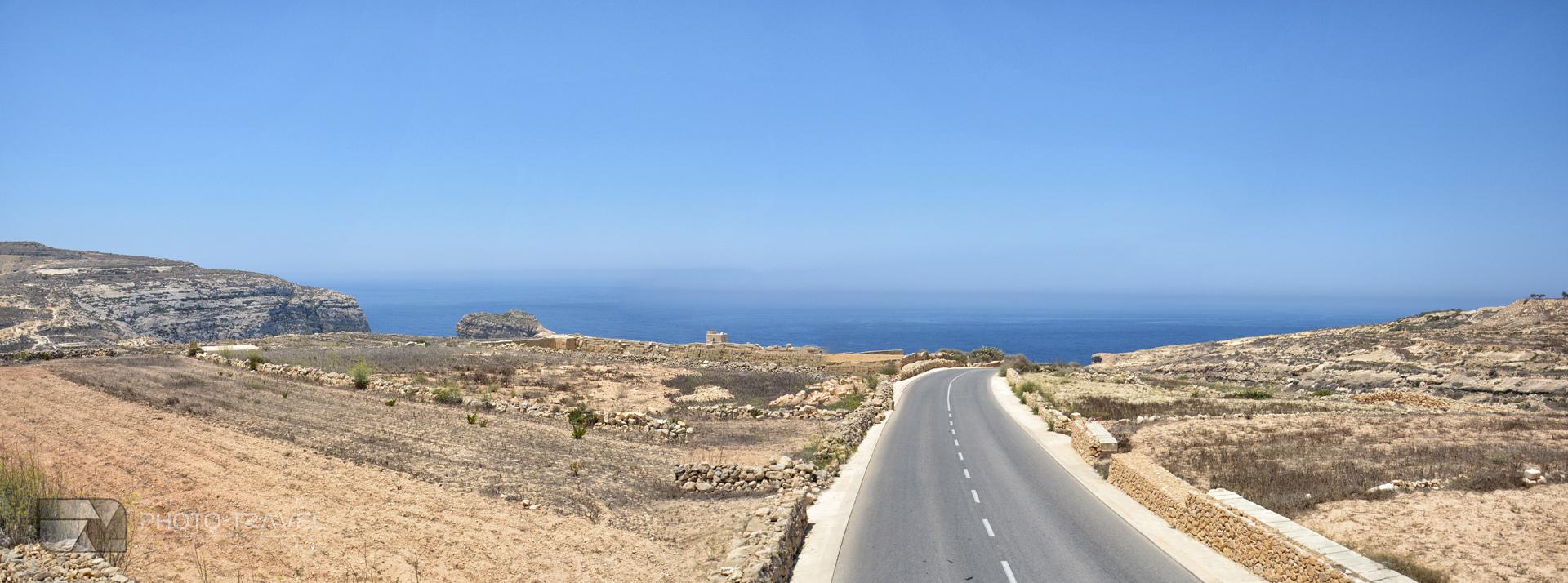Widoki na Gozo - Panorama w okolicach Dwejra
