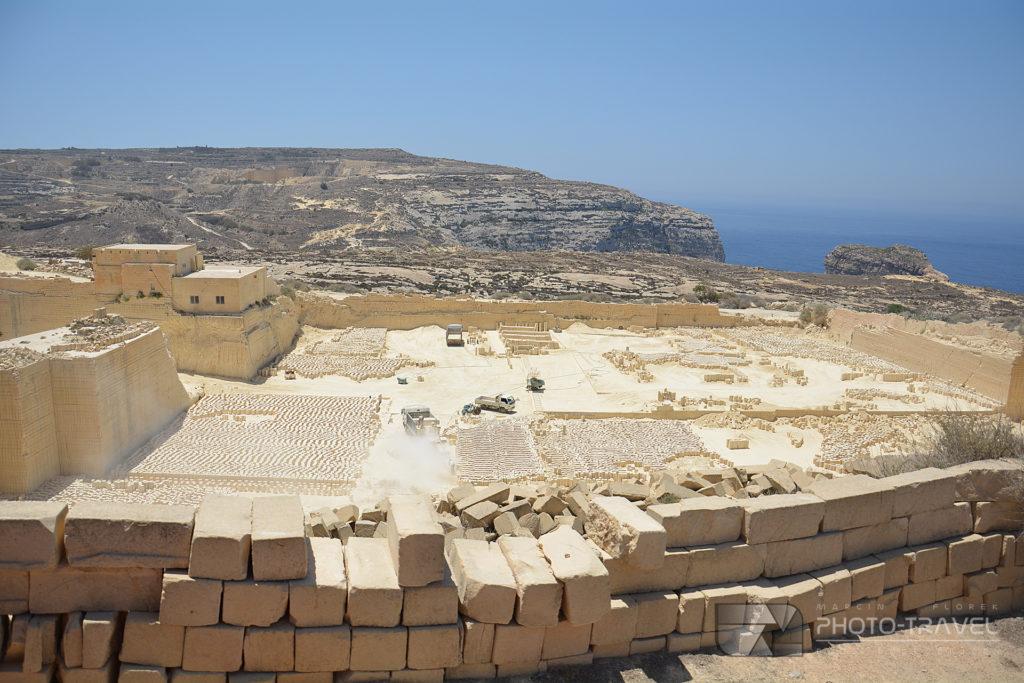 Kopalnia kamienia na Gozo w okolicach Azure Window