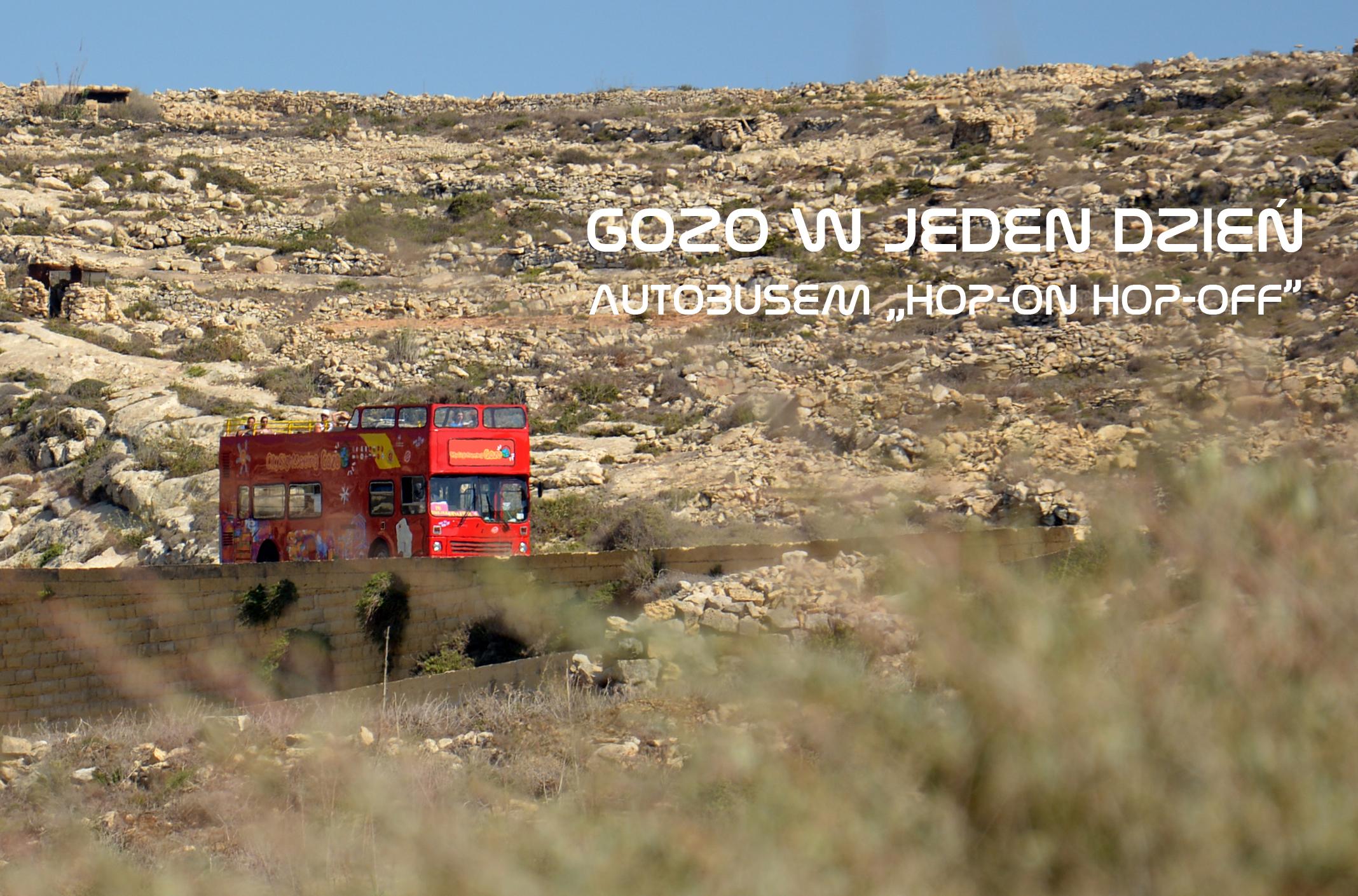"Gozo w jeden dzień autobusem ""Hop-on Hop-off"""