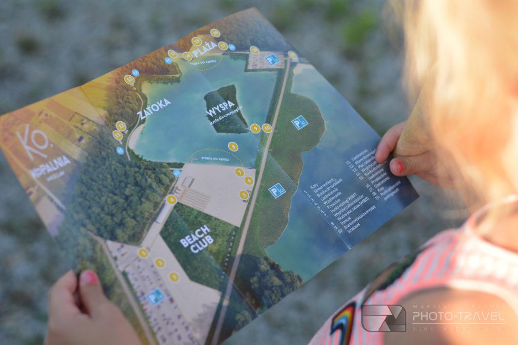 Kąpielisko Kopalnia w Paniowicach - mapa kąpieliska