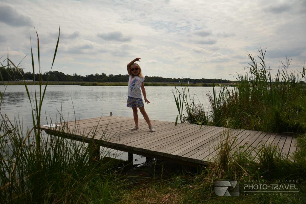 Pomosty w strefie Zatoka w Paniowicach koło Wrocławia