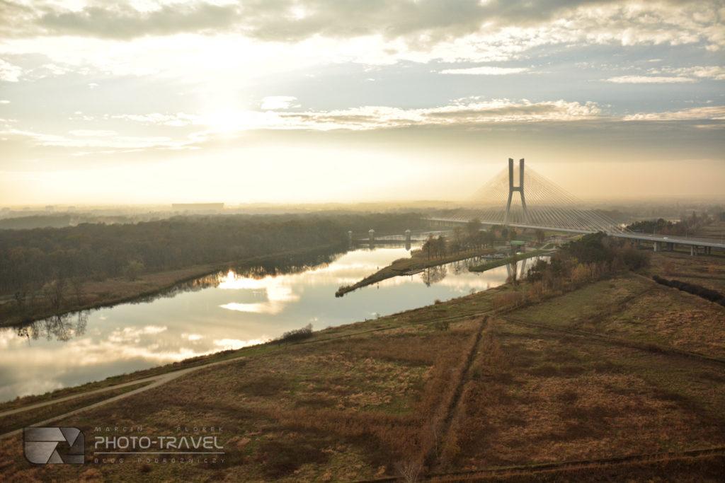 Most Rędziński z lotu ptaka