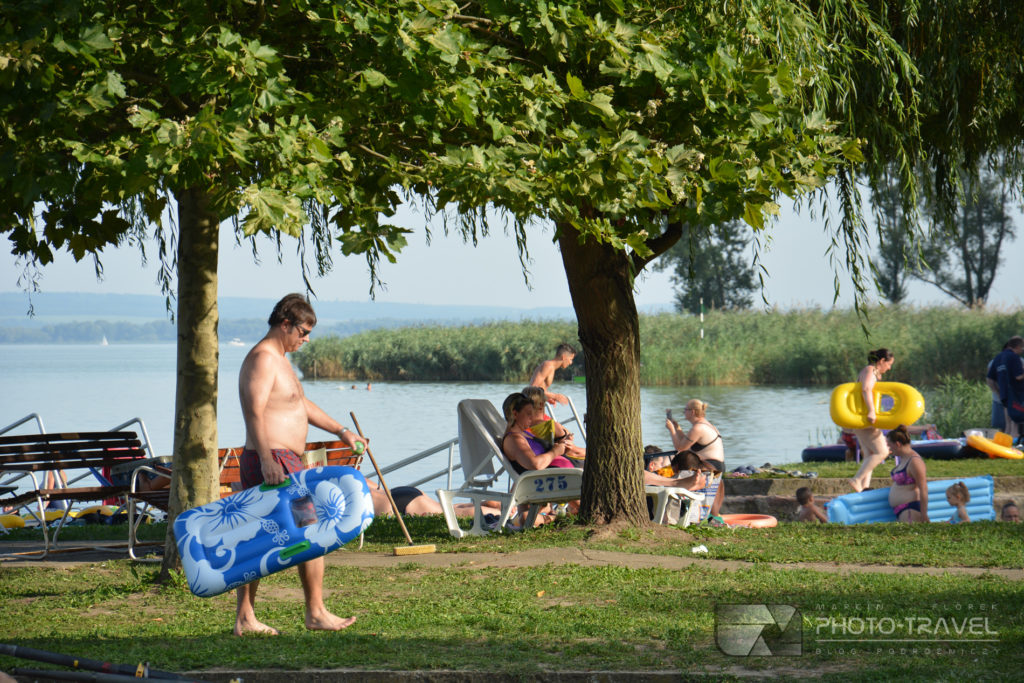 Plaża Helikon strand w Keszthely nad Balatonem