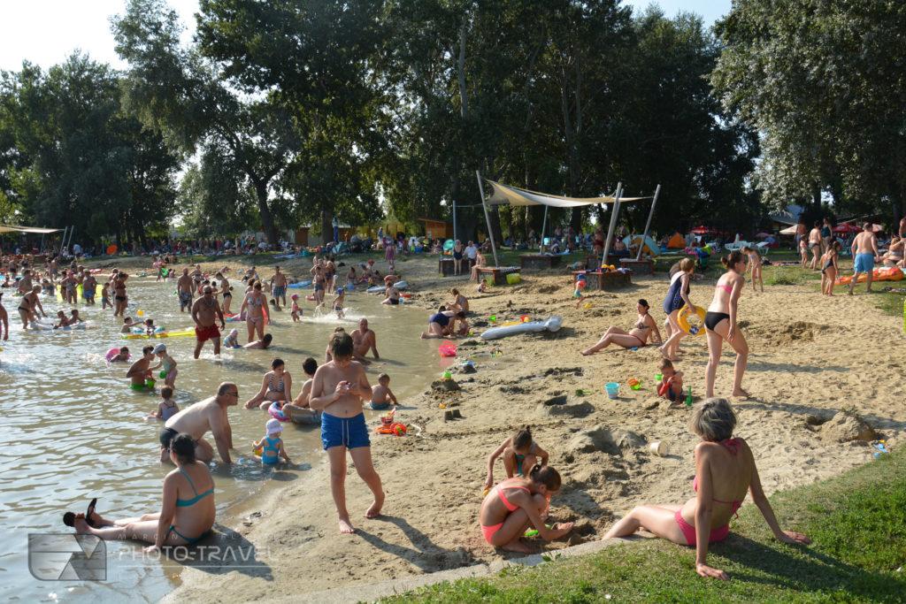 Płytkie plaże nad Balatonem