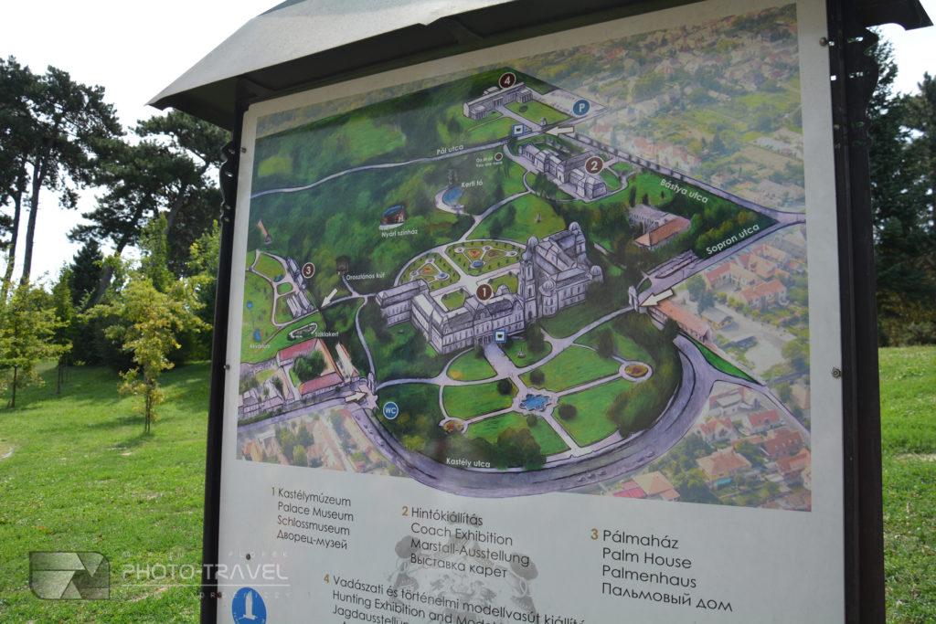 Pałac rodziny Festeticsów Mapa