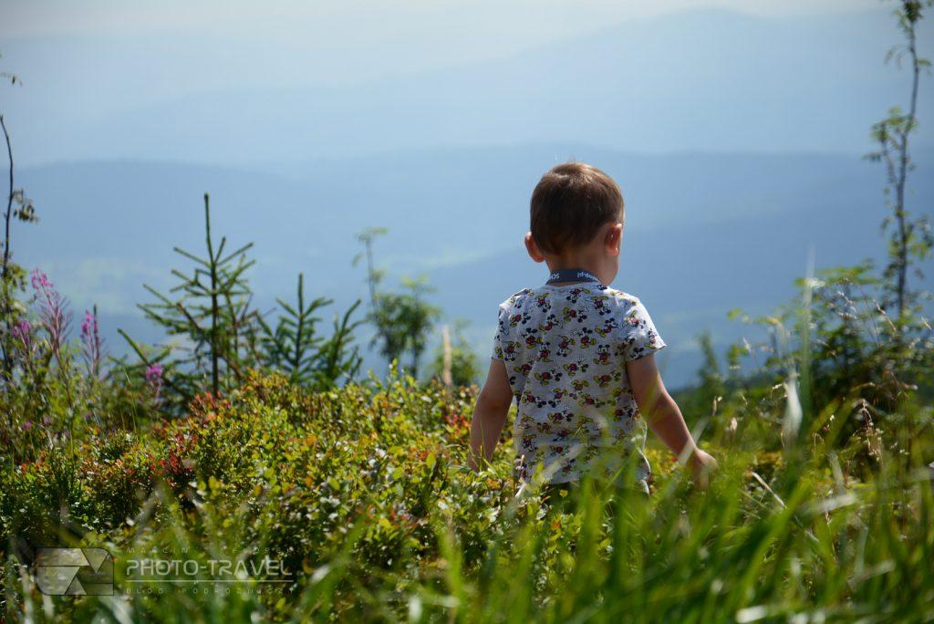 Barania Góra z dziećmi