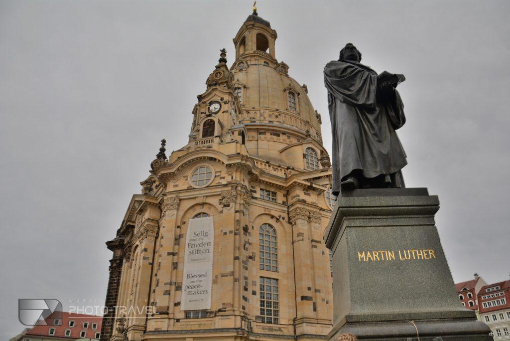 Drezno na weekend - pomnik Martina Lutera