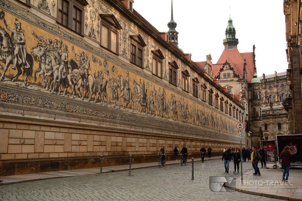 Obraz na ścianie w Dreźnie