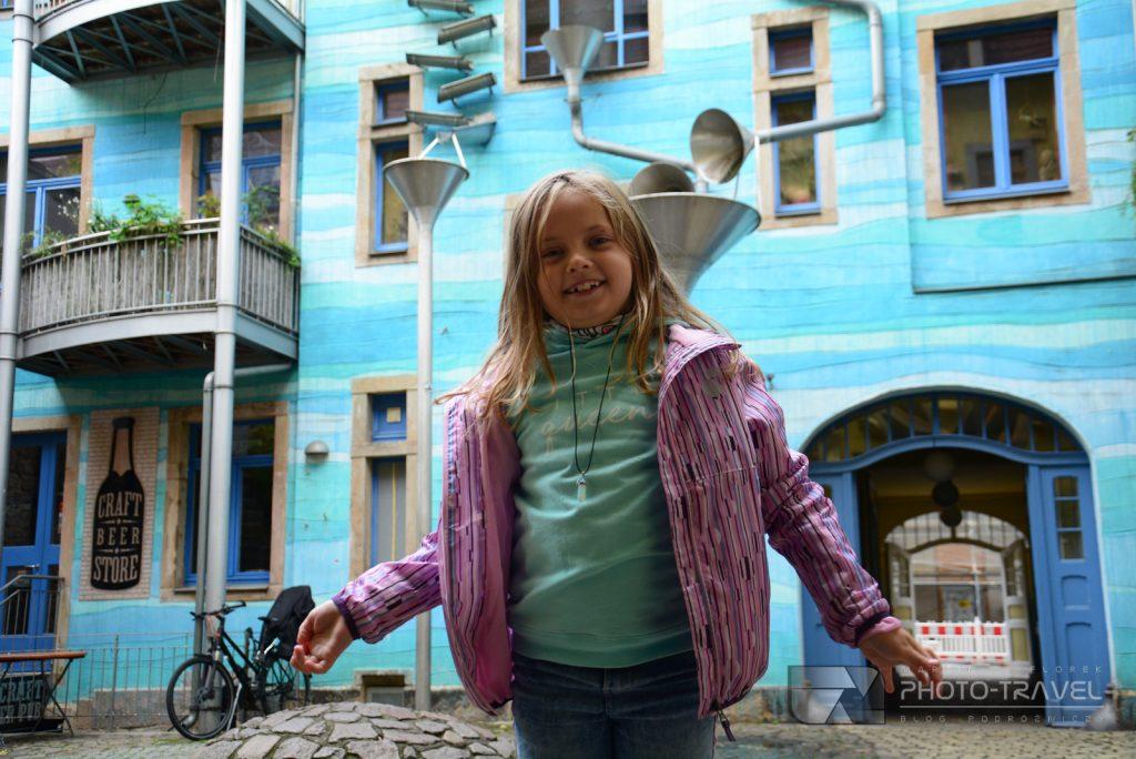 Niebieska kamienica w Dreźnie