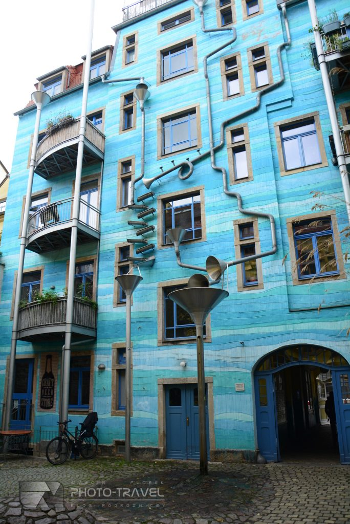 Błękitny dom w Dreźnie
