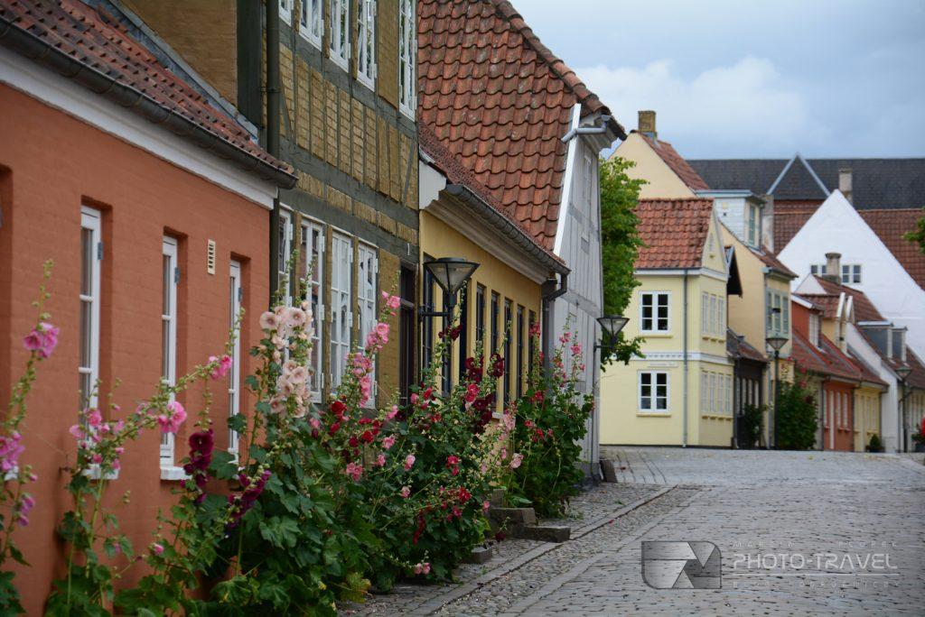 Uliczki w Odense - mieście w którym urodził się Andersen