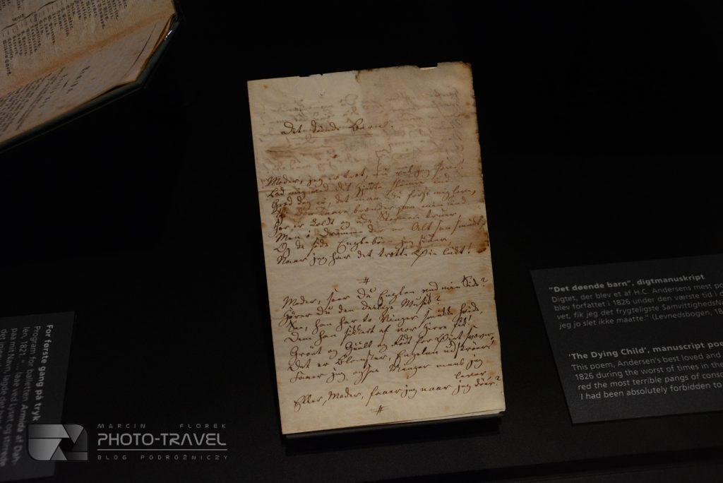 Rękopisy Andersena w Muzeum w Odense