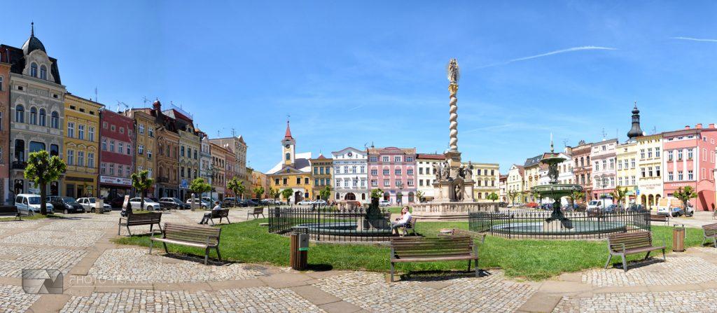 Broumov - Perła baroku na Pograniczu Kłodzkim - panorama rynku
