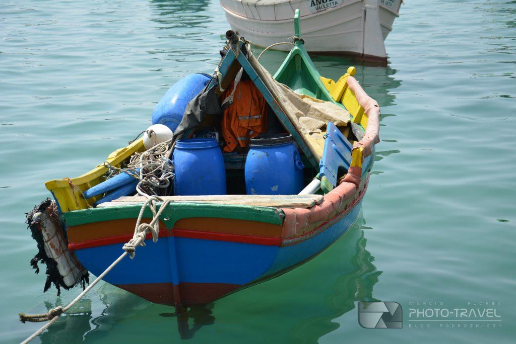 łódki rybackie na Malcie