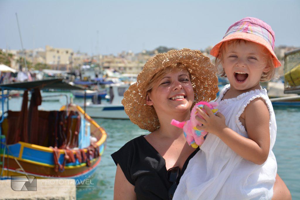 Marsaxlokk z dzieckiem