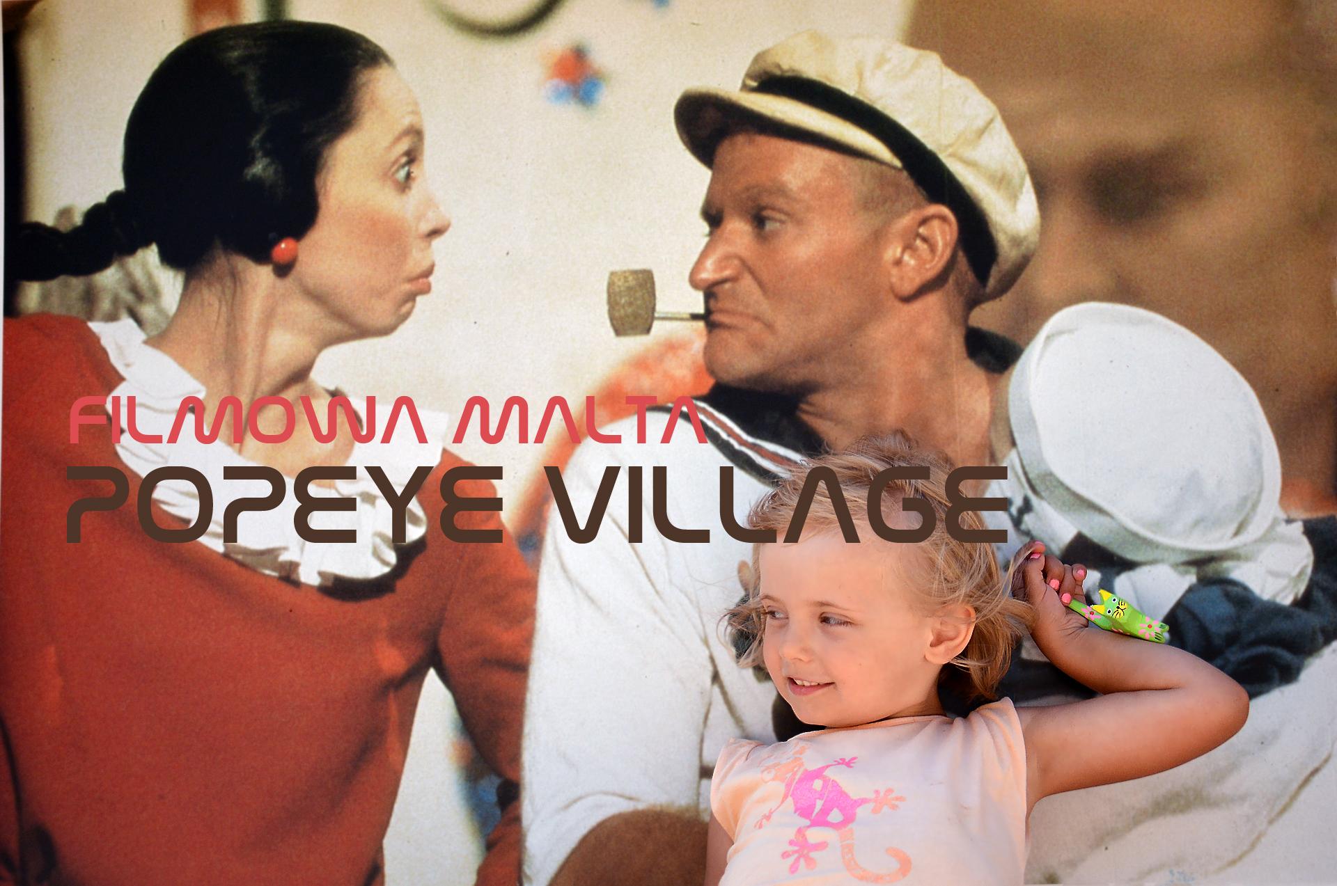 Filmowa Malta | Popeye Village, czyli kolorowa wioska Popeye'a na Malcie | atrakcja dla dzieci na Malcie