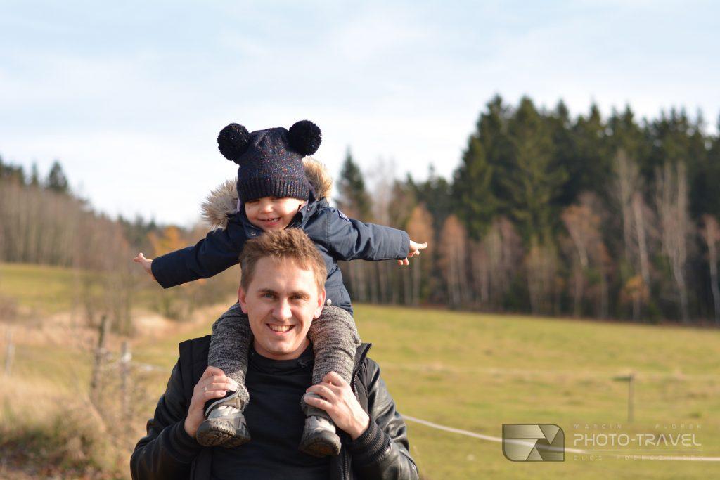 Wieże widokowe na Dolnym Śląsku - Wzgórza Włodzickie - Włodzicka Góra z dziećmi