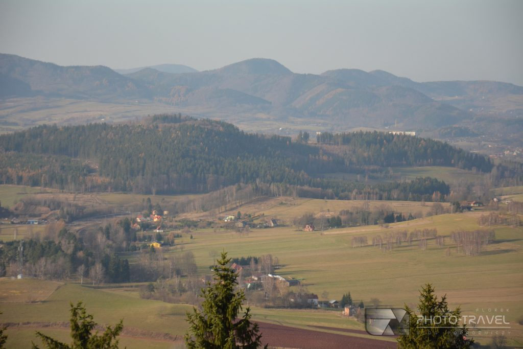 Wieże widokowe na Dolnym Śląsku - Wzgórza Włodzickie - Włodzicka Góra - szlak