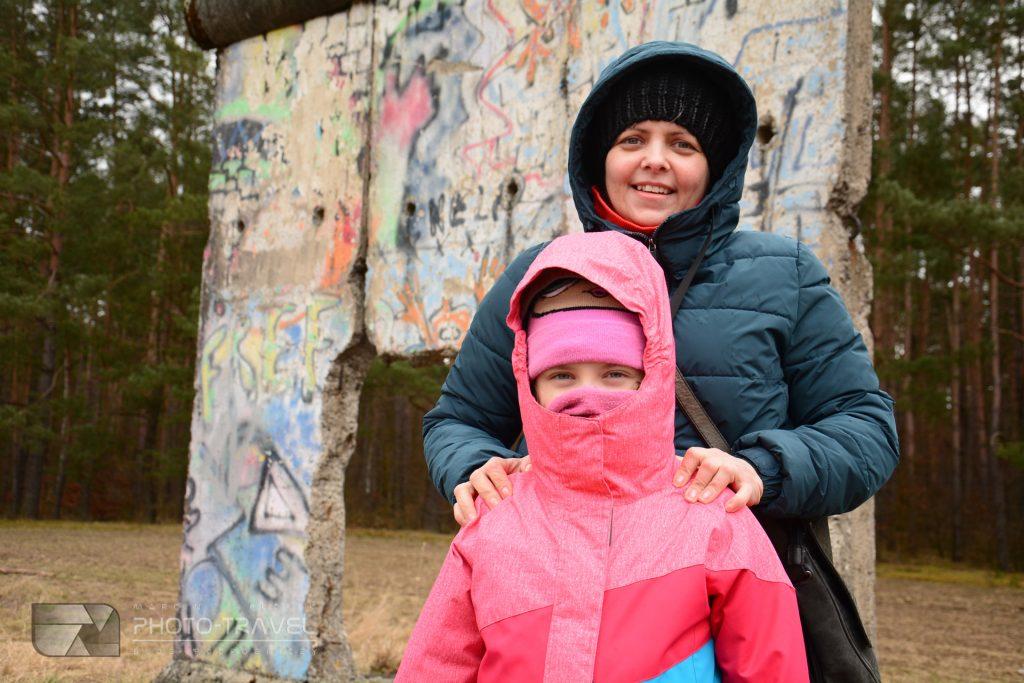 mur berliński w sosnówce