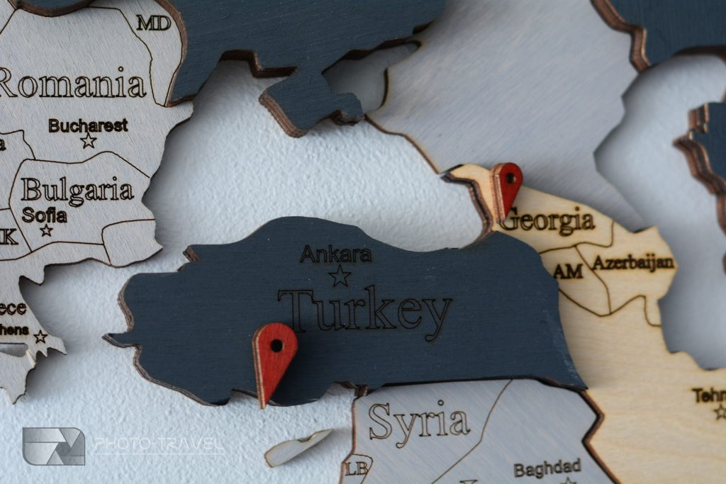 Drewniana mapa świata LosokaWood