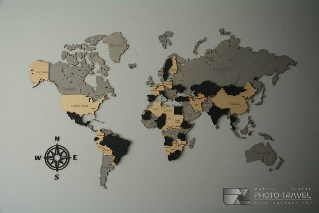 Drewniana mapa świata LosokaWood opinie